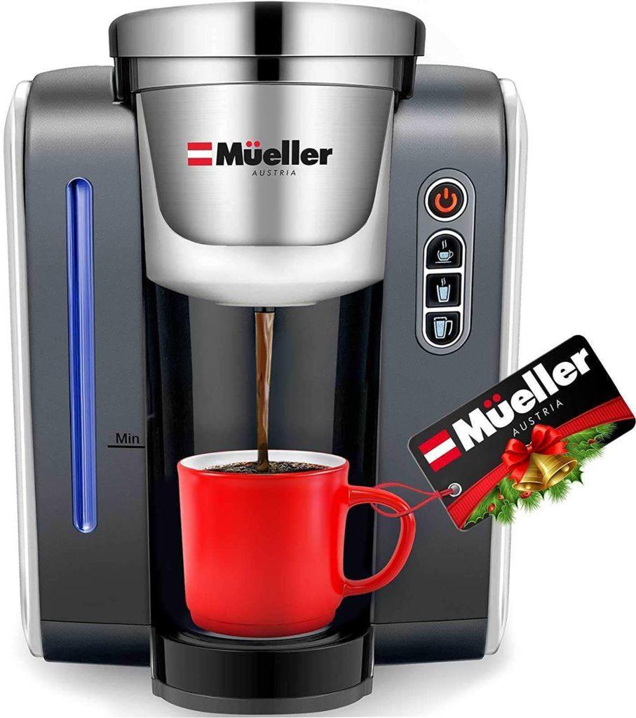 1. Mueller Single Serve Pod Compatible Coffee Maker Machine