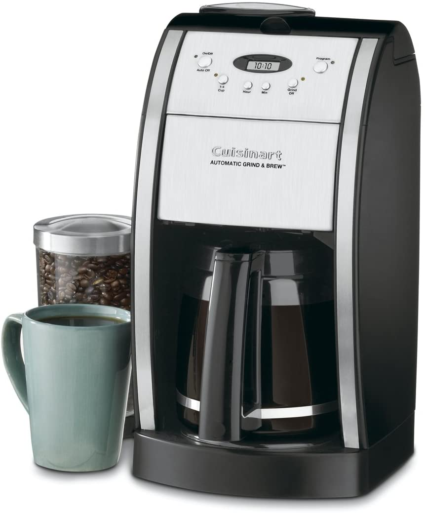 10. Cuisinart DGB-550BKP1 Grind & Brew Automatic Coffeemaker (12 Cup, Black)
