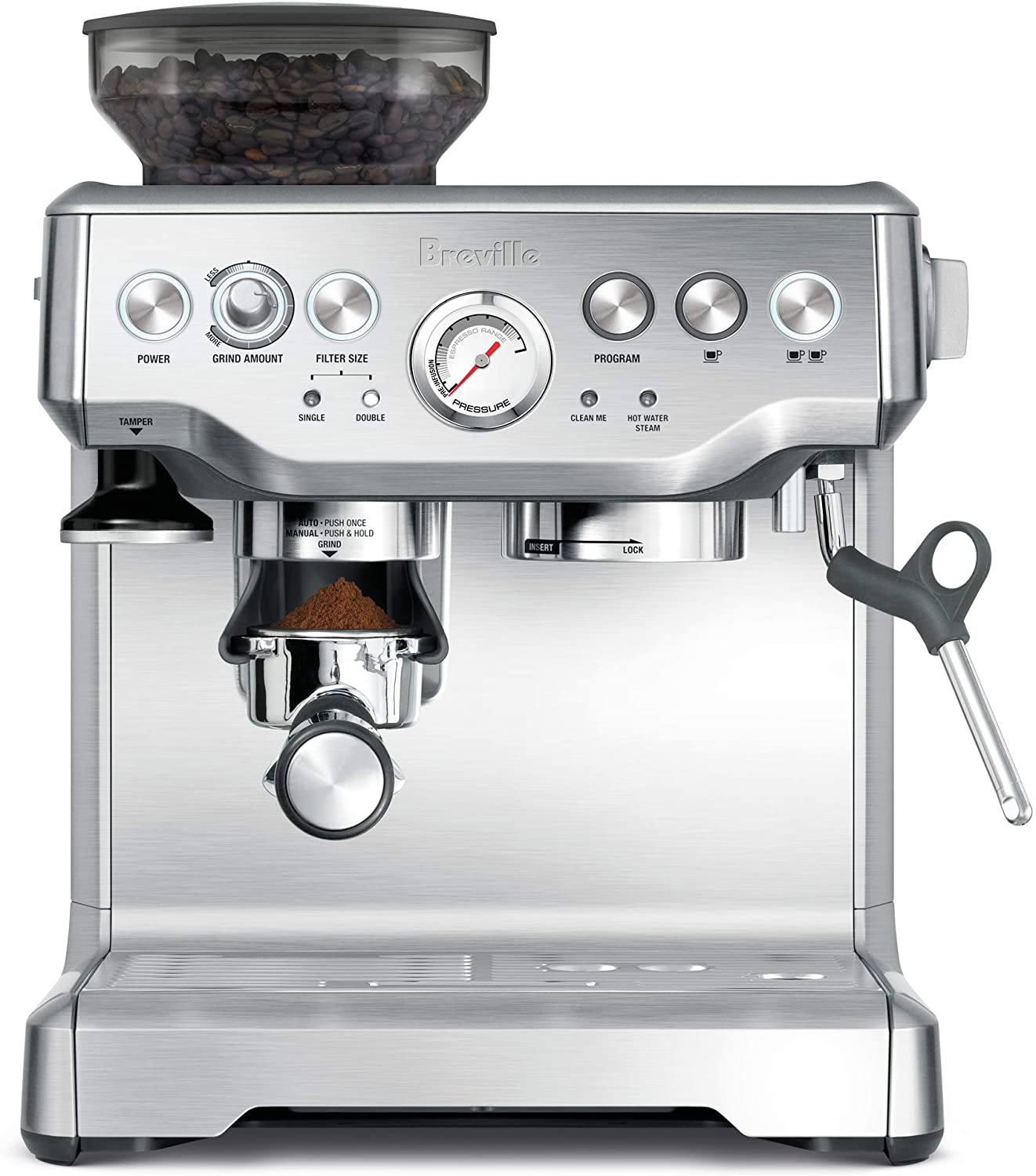 6. Breville BES870XL Barista Express Espresso Machine (Brushed Stainless Steel)