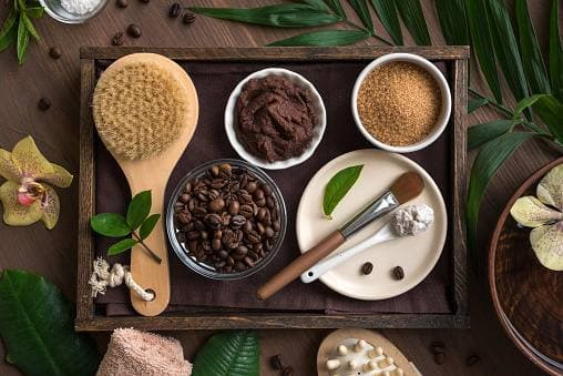 16. You can use coffee grounds as part of your skincare