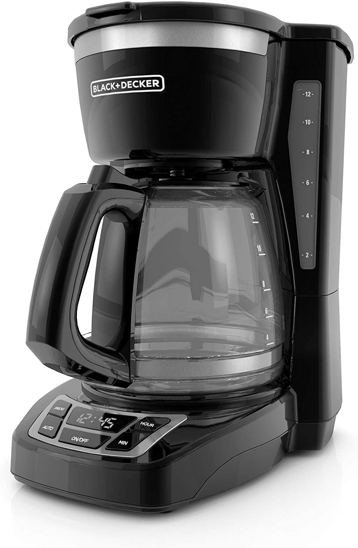 4. BLACK+DECKER 12-Cup Programmable Coffeemaker, Black, CM1160B