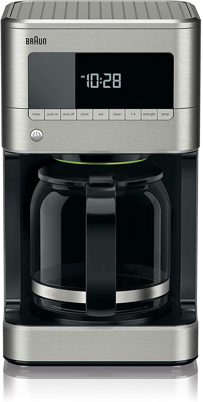 Braun KF7170SI BrewSense Drip Coffeemaker, 12 cup, Stainless Steel