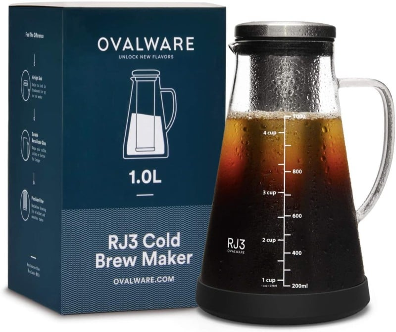 4. Ovalware Coffee Maker and Tea Infuser with Spout