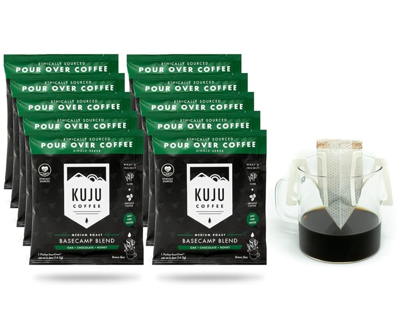 10. Kuju Coffee Premium Single-Serve Pour Over Coffee