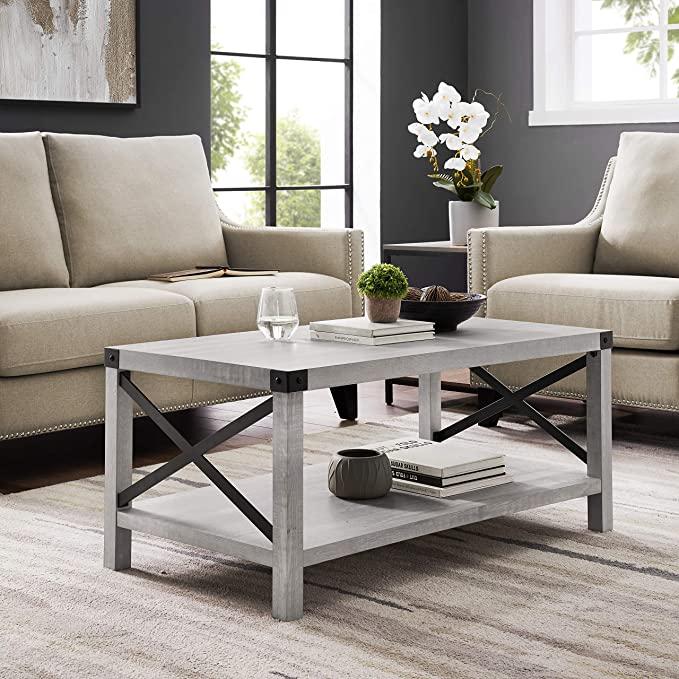 10. Walker Edison Sedalia Modern Farmhouse Coffee Table
