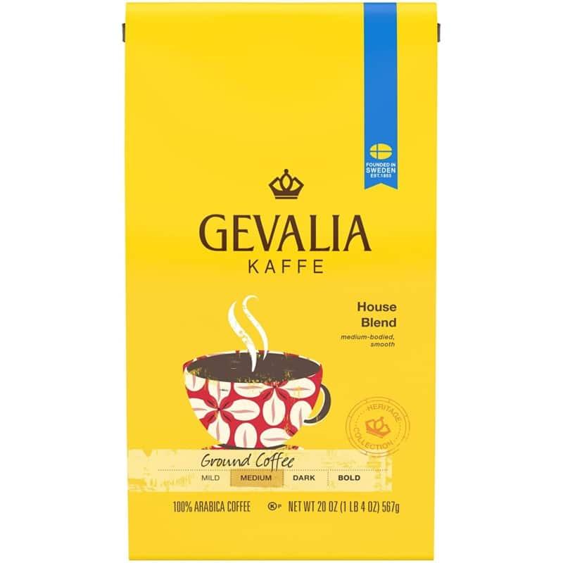 18. Gevalia House Blend Ground Coffee