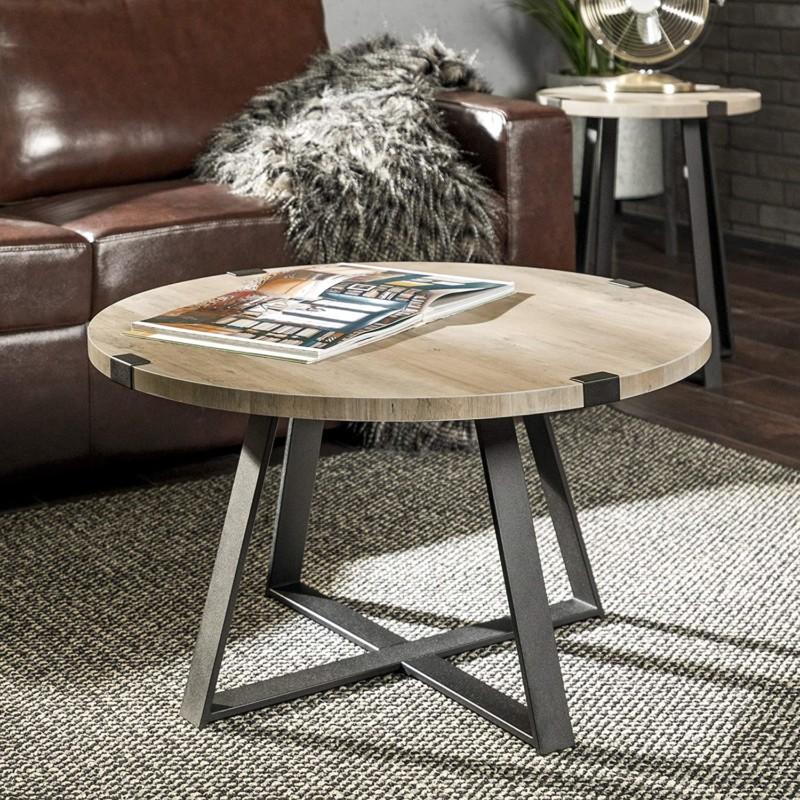 2. Walker Edison Anastasia X Base Coffee Table