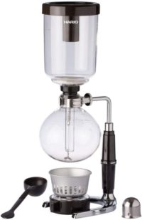 3. Hario Glass Technica Syphon Coffee Maker, 5-Cup