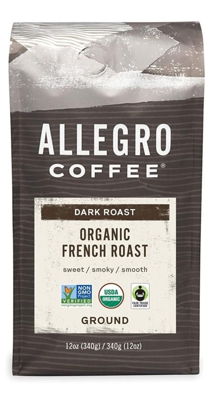3. Allegro Coffee Organic French Roast Ground Coffee