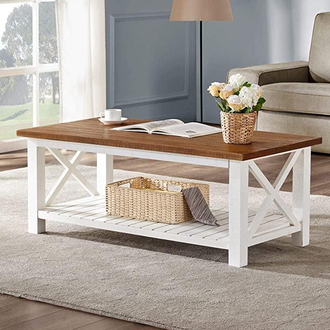 3. Farmhouse Coffee Table from FurniChoi
