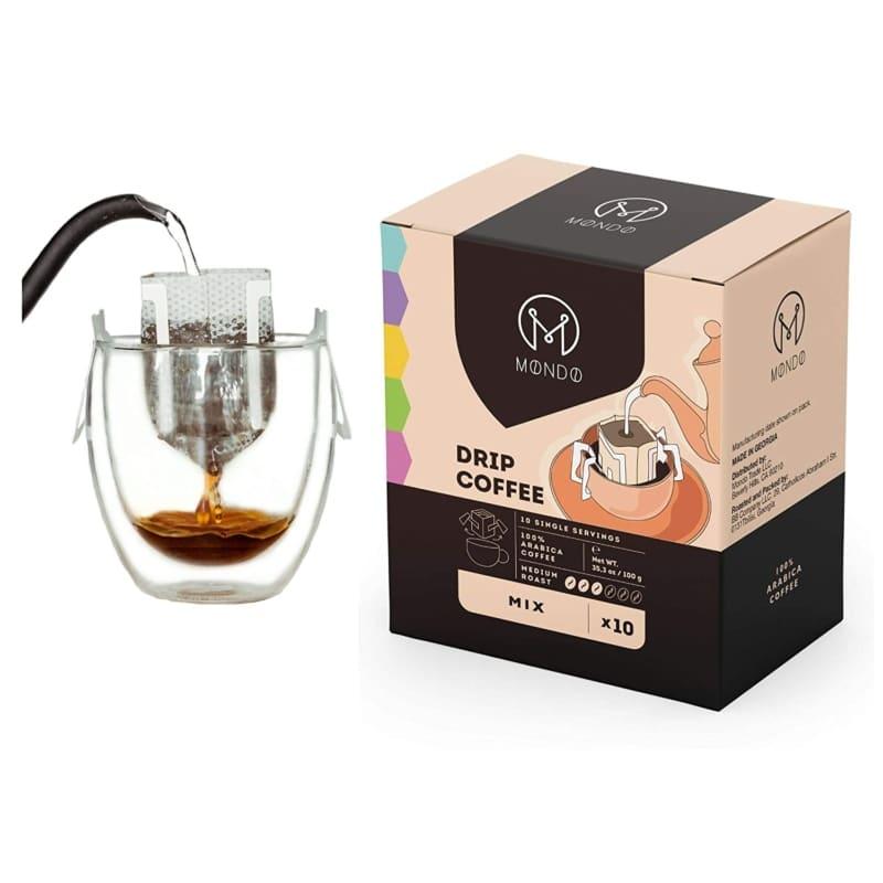 4. Mondo Drip Coffee Maker, Single Serve Pour Over Coffee Filter Bag