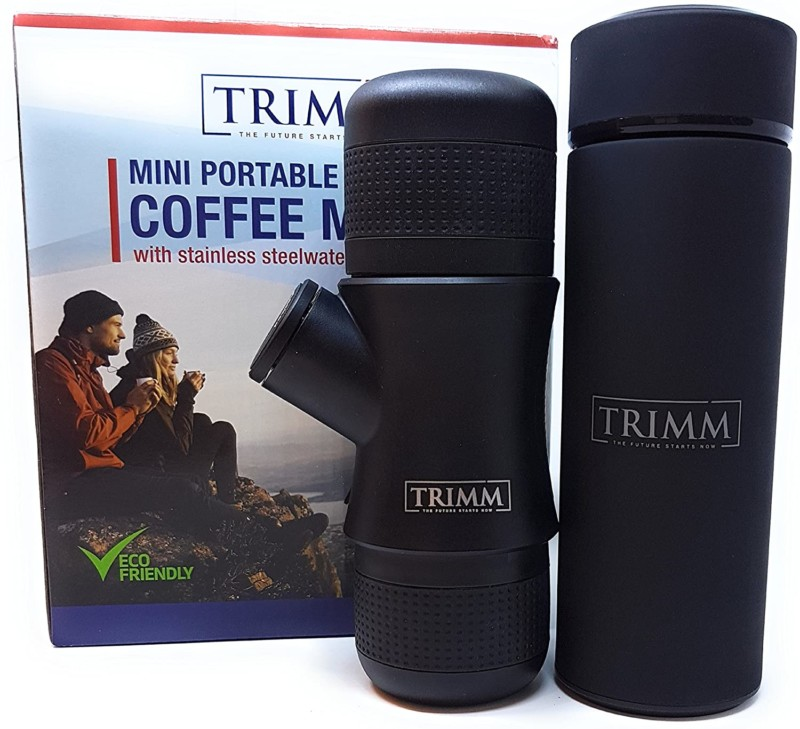 5. Trimm Portable Espresso Maker and Thermos Vacuum Insulated Double Wall