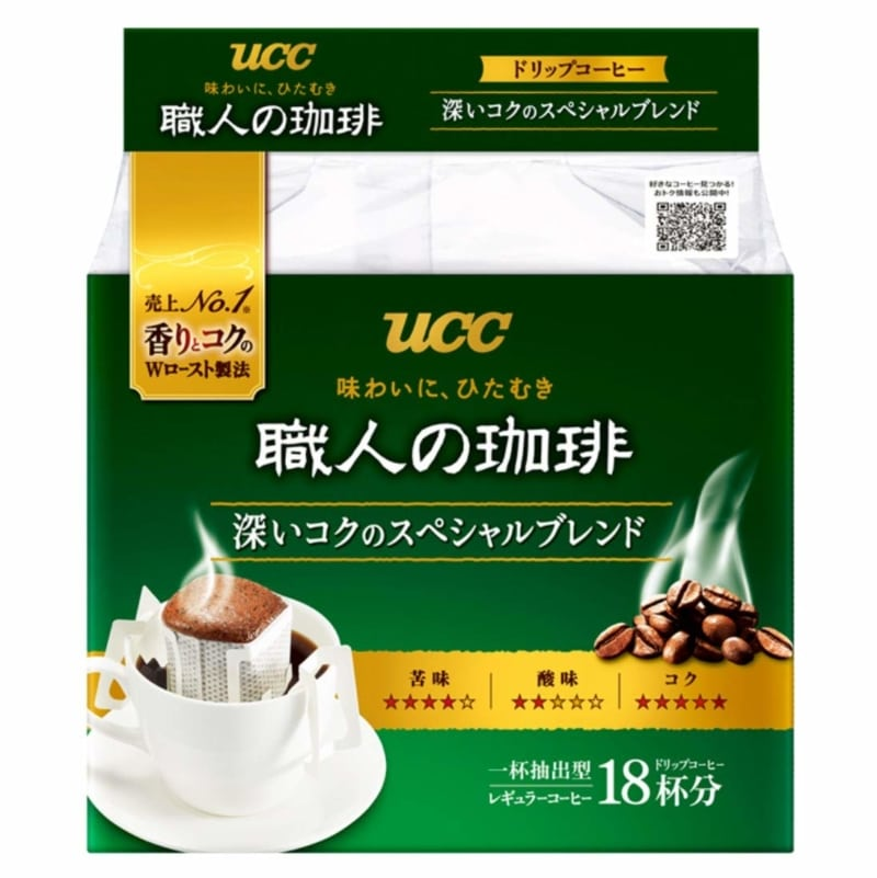 5. UCC craftsman of coffee drip coffee deep richness of the special blend 18P