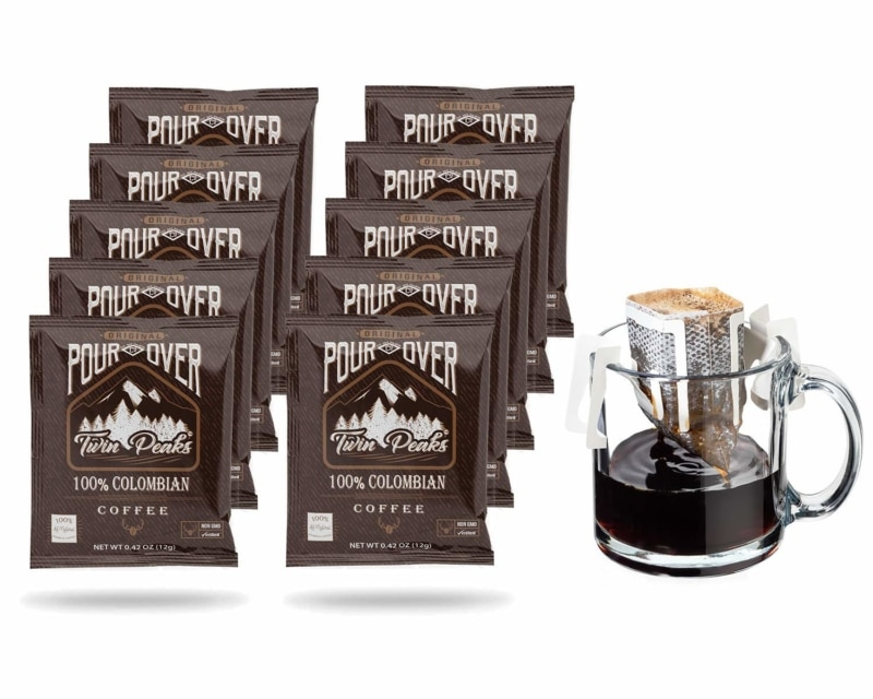6. Coffee Blenders Twin Peaks Premium 100% All Natural Single Serve Pour Over