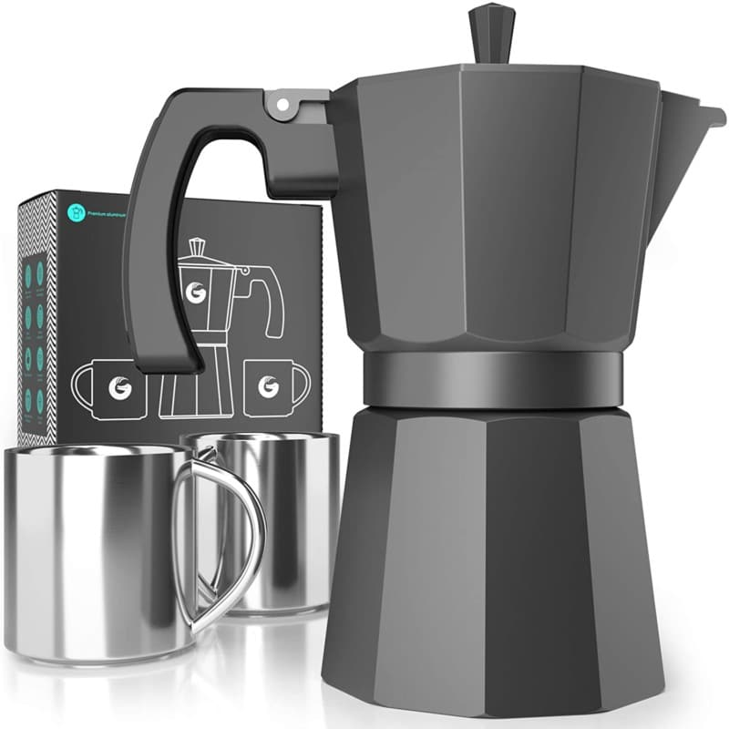 8. Coffee Gator Moka Pot Stovetop Espresso Machine