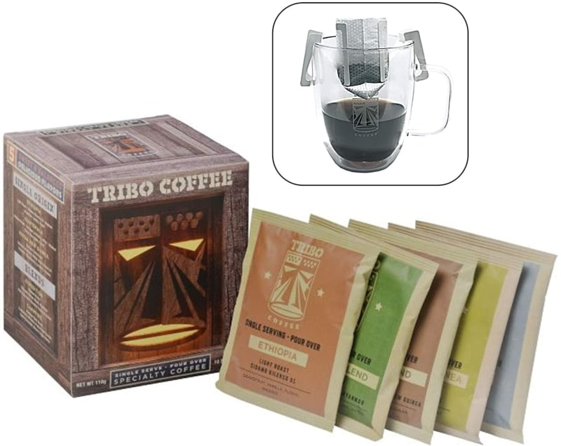 8. Tribo Coffee Single-Serve Portable Pour Over Drip Coffee