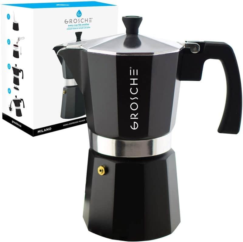 9. GROSCHE Milano Stovetop Espresso Maker