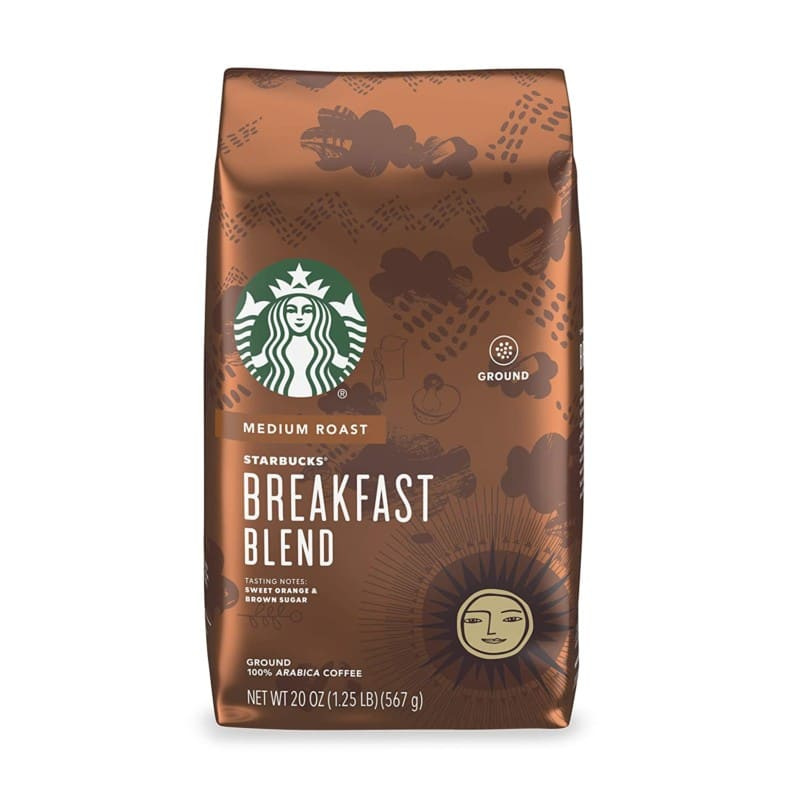 9. Starbucks Medium Roast Ground Coffee