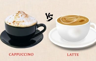 Cappuccino vs Latte   Differences Between Cappuccino and Latte