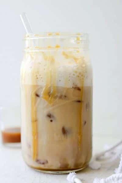 10. Caramel Vanilla Iced Coffee