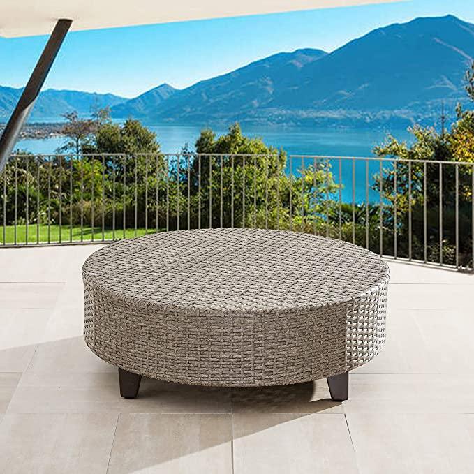 1. LOKATSE HOME Outdoor Round Coffee Table