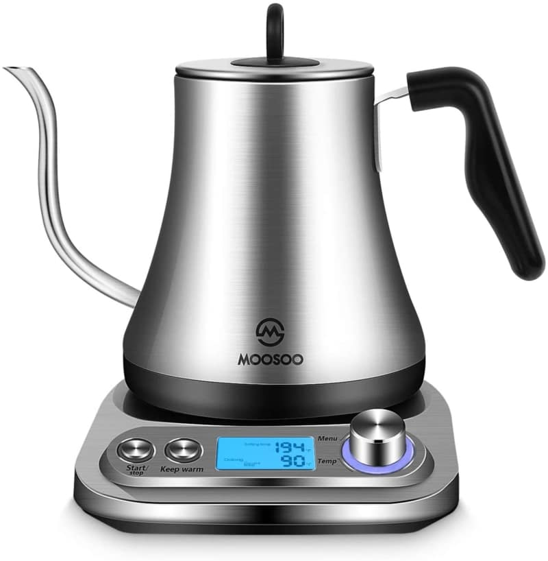 10. MOOSOO Electric Gooseneck Kettle