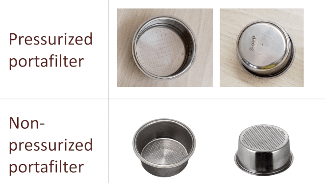 5. What Are The Differences Between Pressurized Portafilter And Non-pressurized Portafilter?