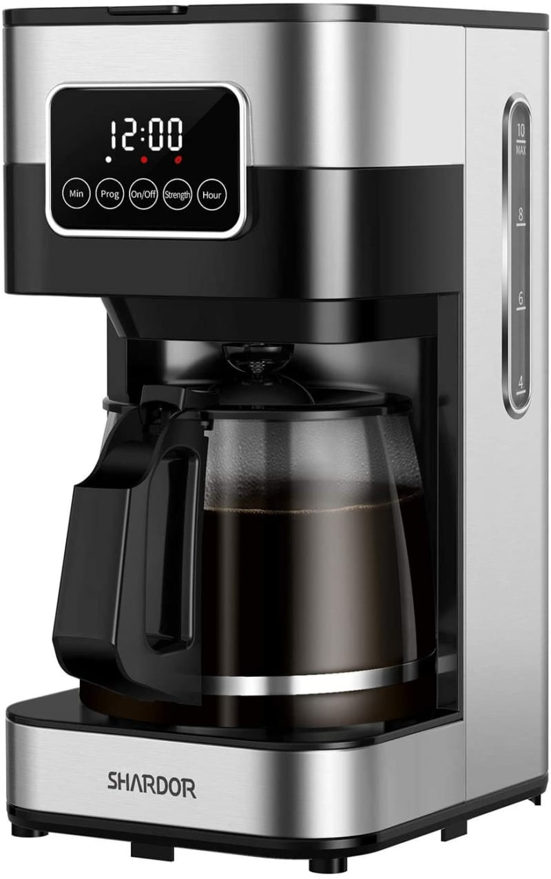 10. SHARDOR Coffee Maker, Touch-Screen 10-cup Programmable