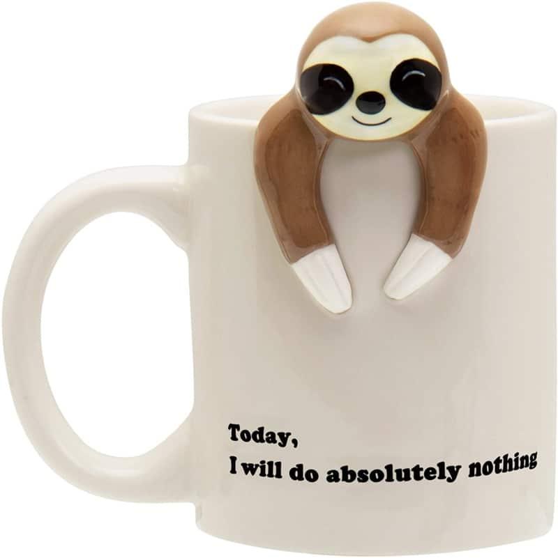 11. Funny Sloth Coffee Mug For Women and Men