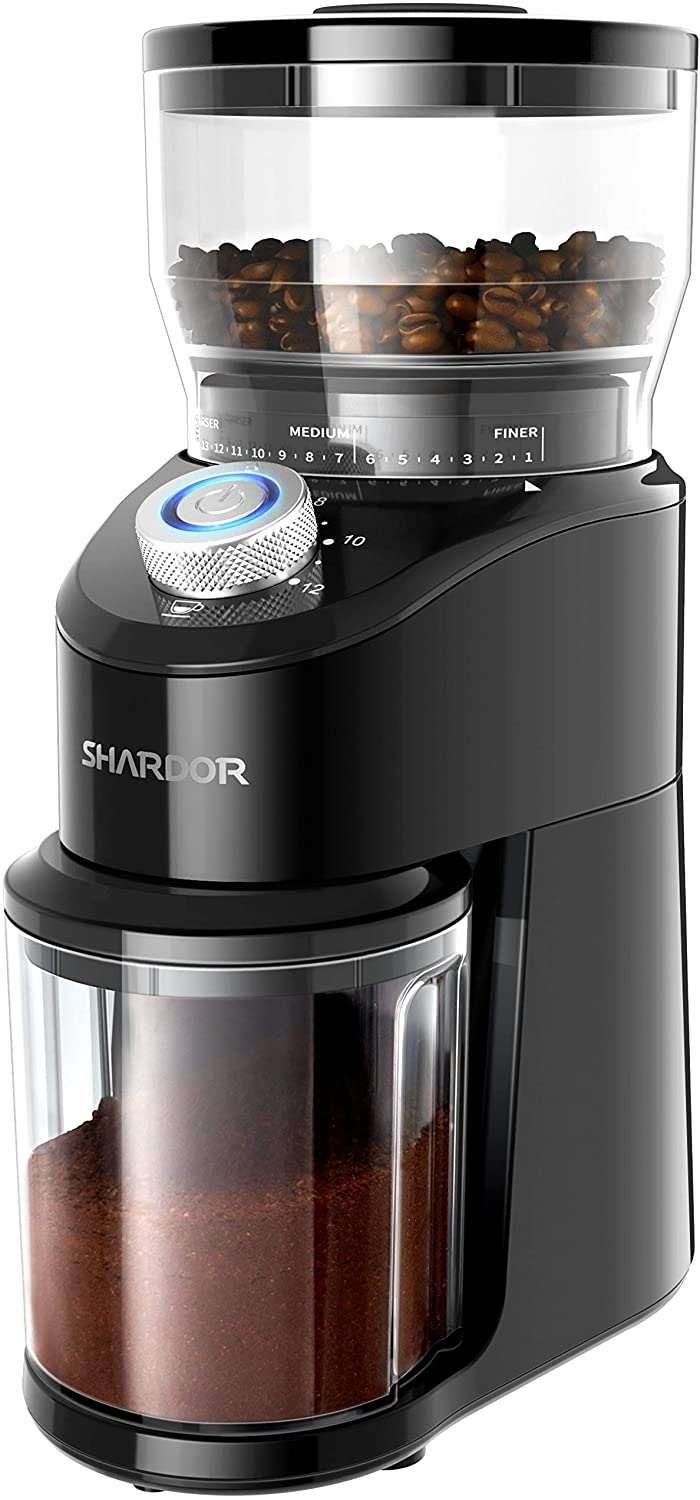 SHARDOR Conical Burr Coffee Grinder, Electric Adjustable Burr Mill