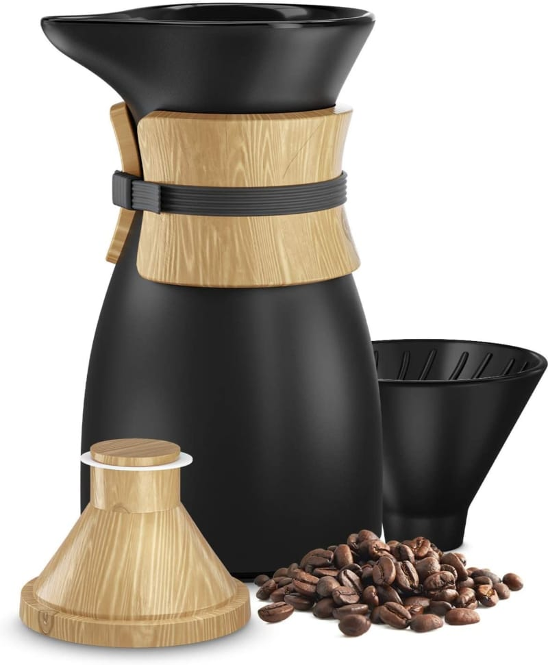 11. Platinum Brew Cone Funnel Pour Over Coffee Maker
