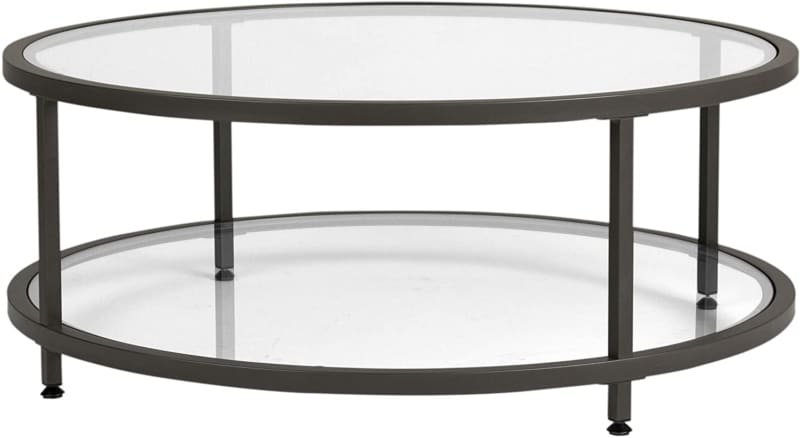 12. Studio Designs Round Coffee Table with Two Glasses
