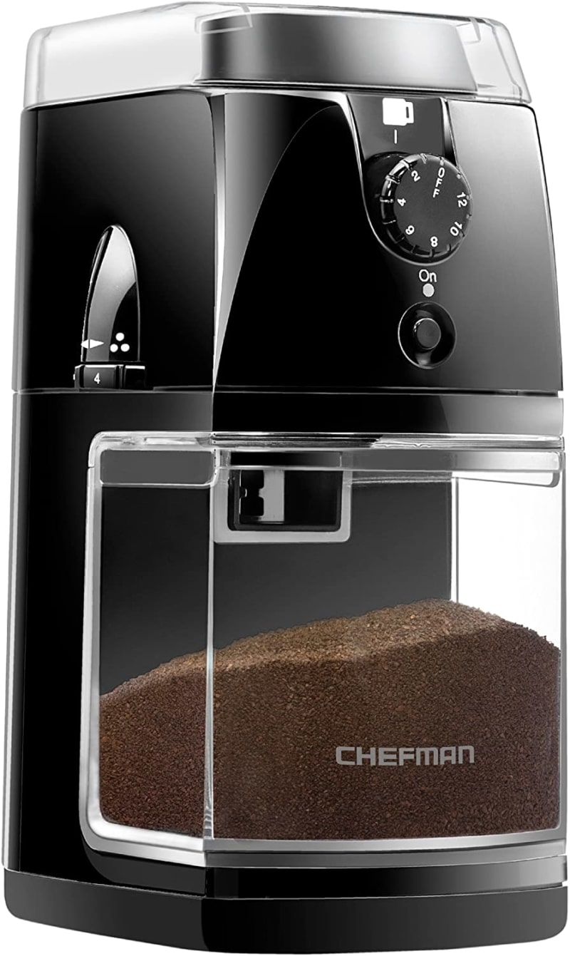 12. Chefman Coffee Grinder Electric Burr Mill