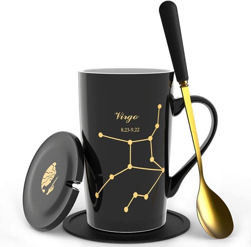 14. Fullcci 15-oz Creative Constellation Zodiac Sign Coffee Mug Set