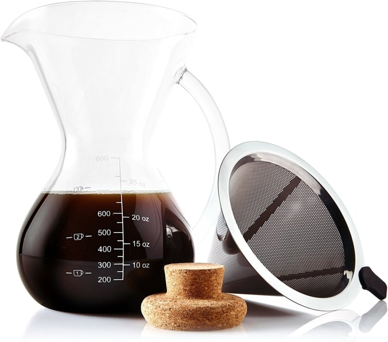 14. Apace Living Pour Over Coffee Maker With Scoop and Cork Lid