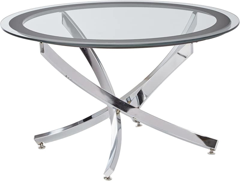 15. Norwood Round Glass Coffee Table