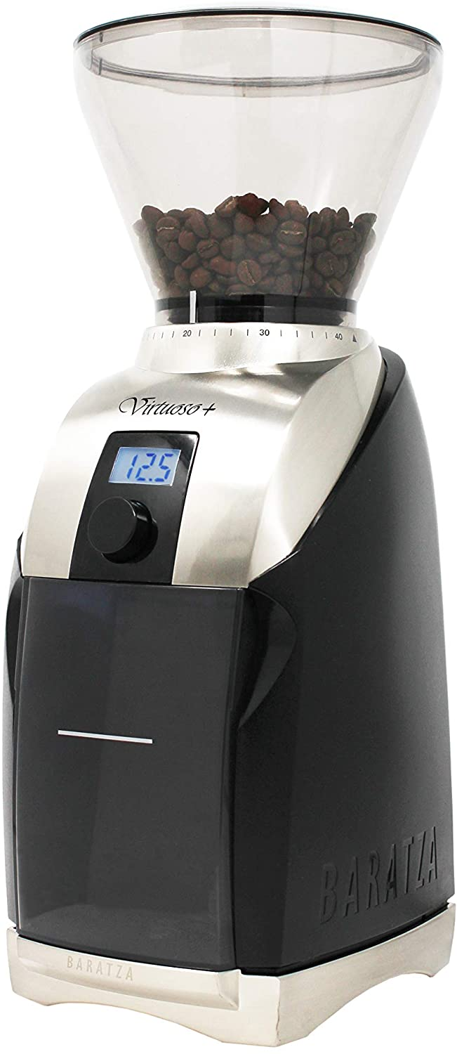 2. Baratza Virtuoso+ Conical Burr Coffee Grinder with Digital Timer Display