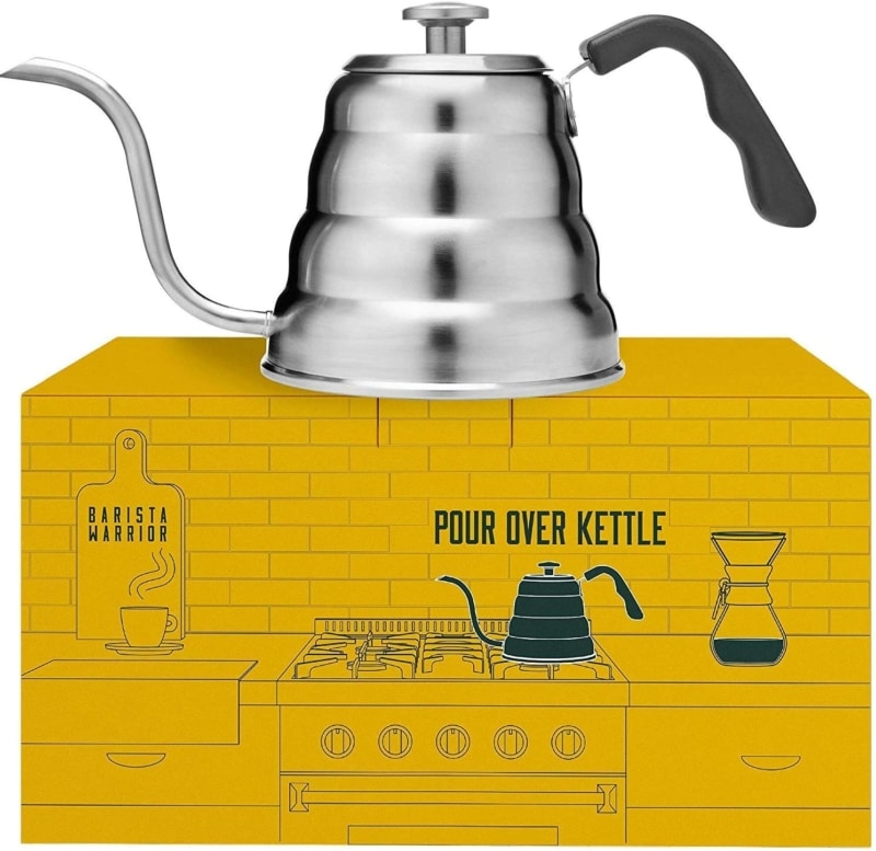 3. Barista Warrior Stainless Steel Pour Over Coffee & Tea Kettle