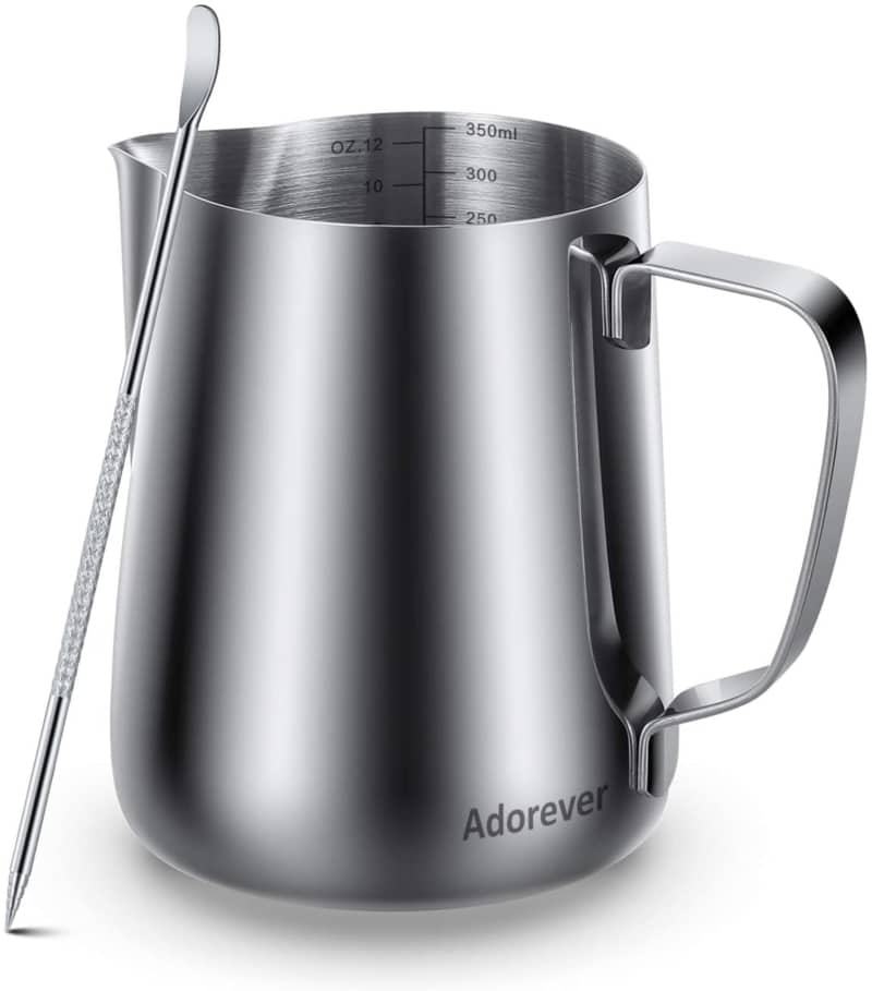 3. ADOREVER MILK FROTHING PITCHER