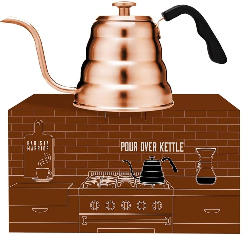 5. Barista Warrior Stainless Steel Pour Over Coffee & Tea Kettle