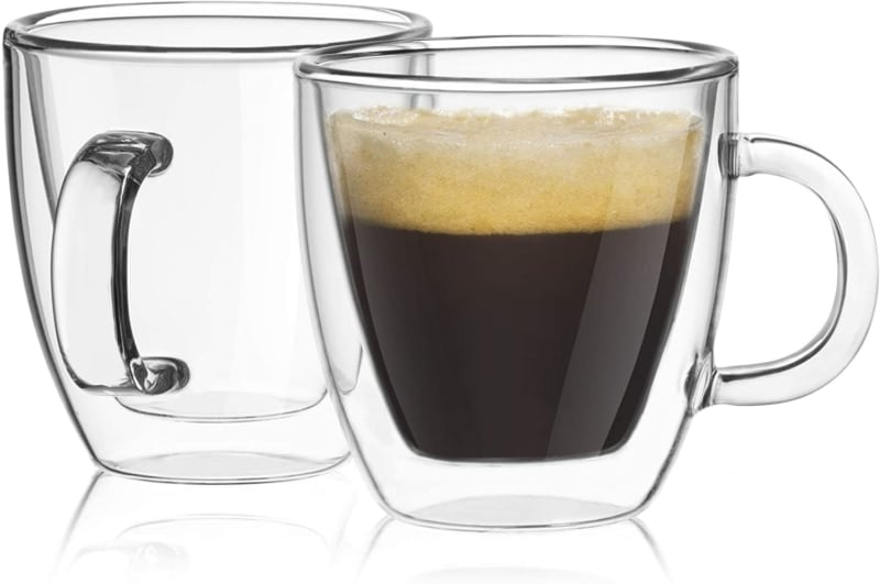 5. JoyJolt Savor Double Wall Insulated Glasses Espresso Mugs