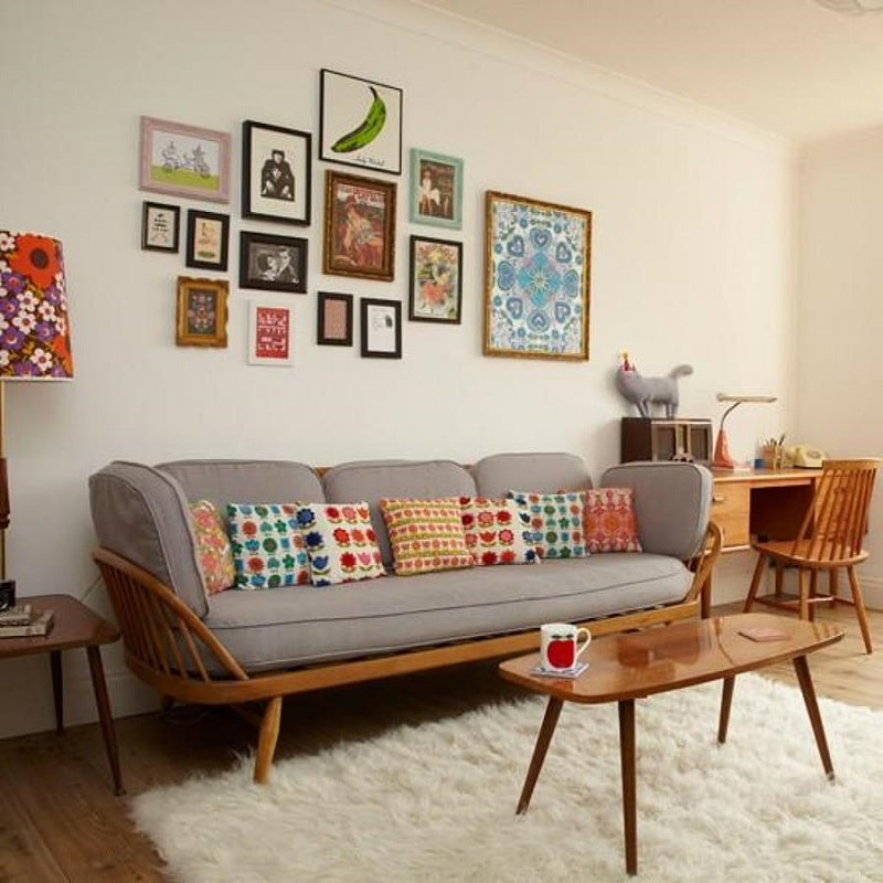 (7) House interior design with vintage coffee tables