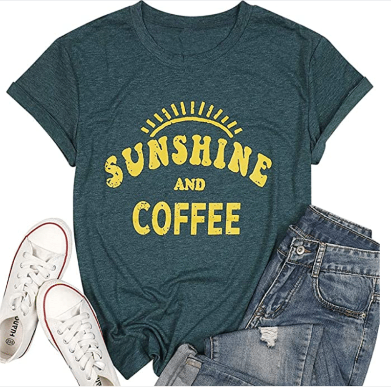 6. Funny JINTING T-shirt Designs for Coffee Lovers, Women