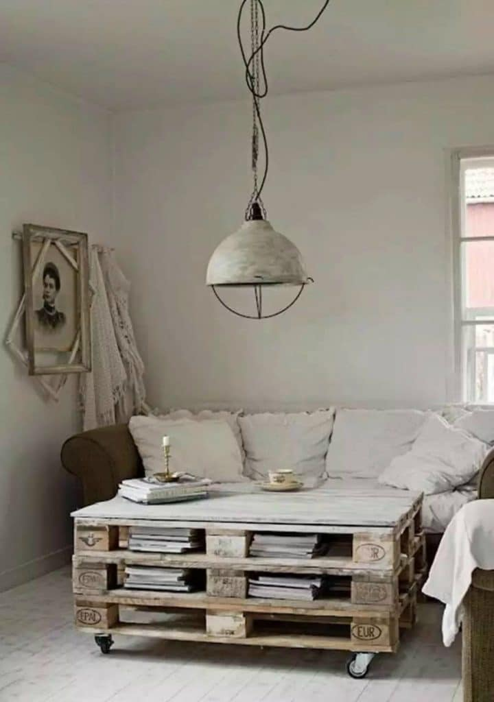 (5) Home interior design with vintage coffee tables