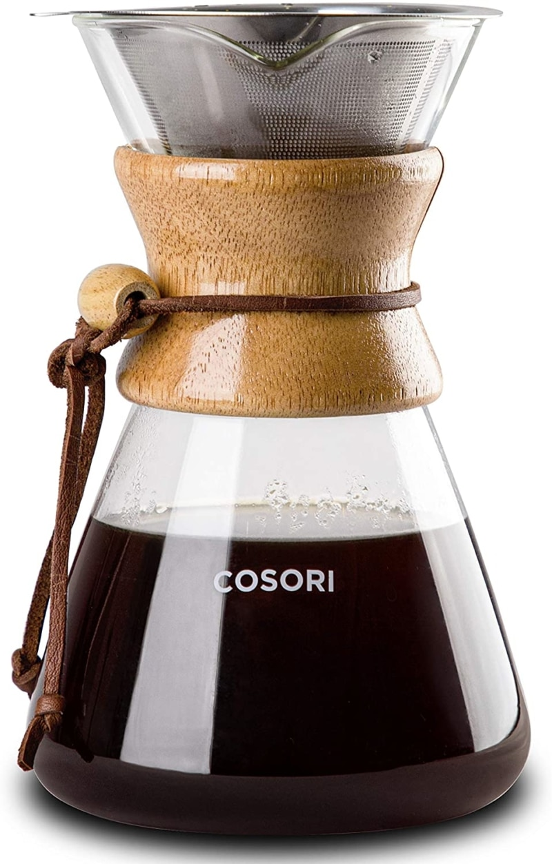 7. COSORI Pour Over Coffee Maker, 8 Cup Glass Coffee Pot&Coffee Brewer