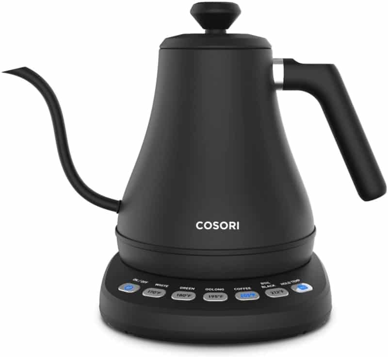 7. COSORI Electric Gooseneck Kettle with 5 Variable Presets