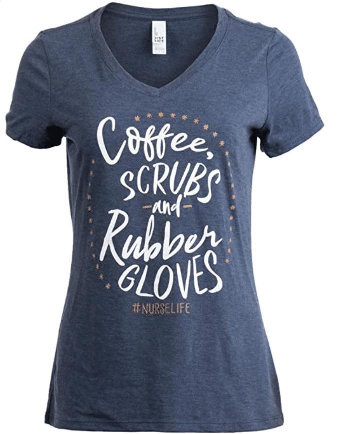 7. V-neck Ann Arbor Women T-shirt for Caffeine Lovers