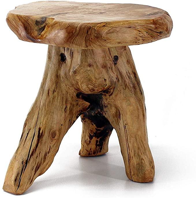 7. WELLAND Tree Stump Stool Side Table