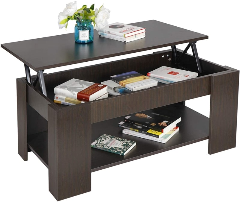 8. SUPER DEAL Lift Top Coffee Table