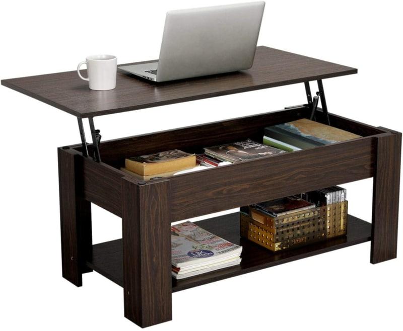 9. YAHEETECH Modern Lift Top Coffee Table